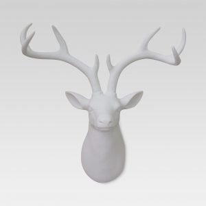 Stag Head Décor 17″x15″ – White – Threshold™