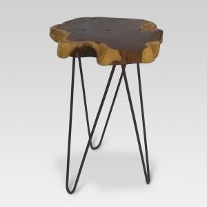 Live Edge Accent Table Brown – Threshold™
