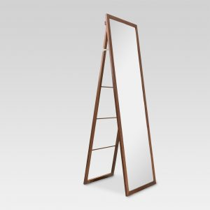 Wood Ladder Standing Floor Mirror Walnut – Threshold™