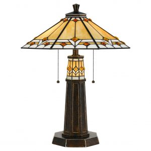 Cal Lighting 60W X 2 Tiffany Table Lamp