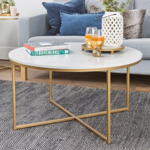 Coffee Table with X – Base – Saracina Home
