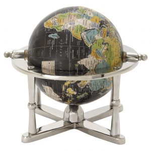 Modern Reflections Desk World Globe (7″) – Olivia & May