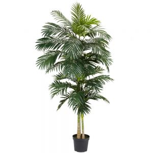 8 ft. Green Golden Cane Palm Silk Tree