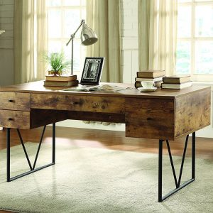 Coaster Analiese Writing Desk, Antique Nutmeg