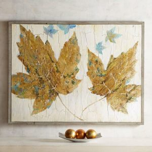 Golden Maple Leaves Art