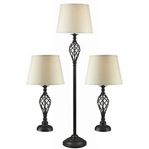Bronze Lamp Set