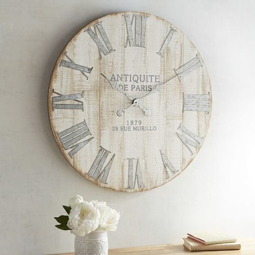 Wall Decor of the Week – Whitewashed Wall Clock