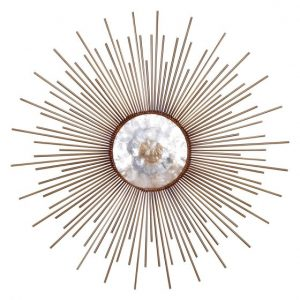 Metal and Capiz Wall Decor