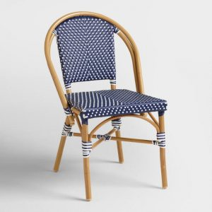Navy Kaliko Bistro Chairs Set Of 2