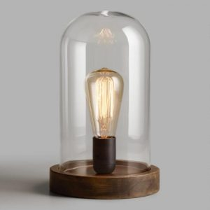 Edison Glass Cloche Table Lamp