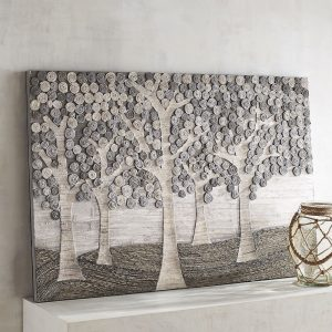 Gray Forest Wall Panel