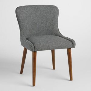 Gray Petite Wingback Upholstered Chairs Set Of 2