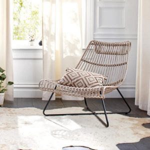 Taupe Rattan Flynn Lounger Chair