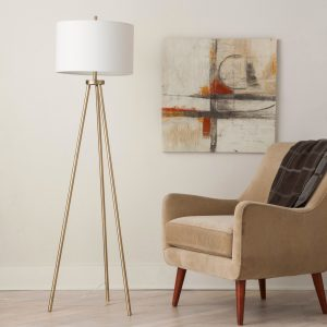 Tripod Floor Lamp Brass